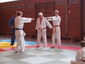 Die Hohenbrunner Judoka beim Training